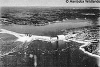 MB Hydro dam in Manitoba