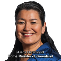 Aleqa Hammond Prime Minister of Greenland