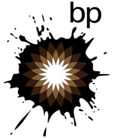 BP logo oil splat