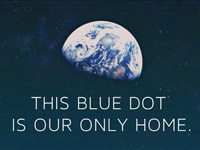 This Blue Dot is our Only Home