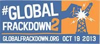 Photo of Global Frackdown logo