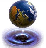 Earth as a water drop