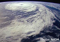 Photo of a hurricane