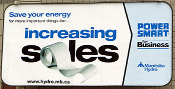 Manitoba Hydro Billboard Summer 2004