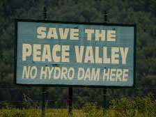 Save the Peace Valley sign