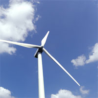 wind turbine in sky