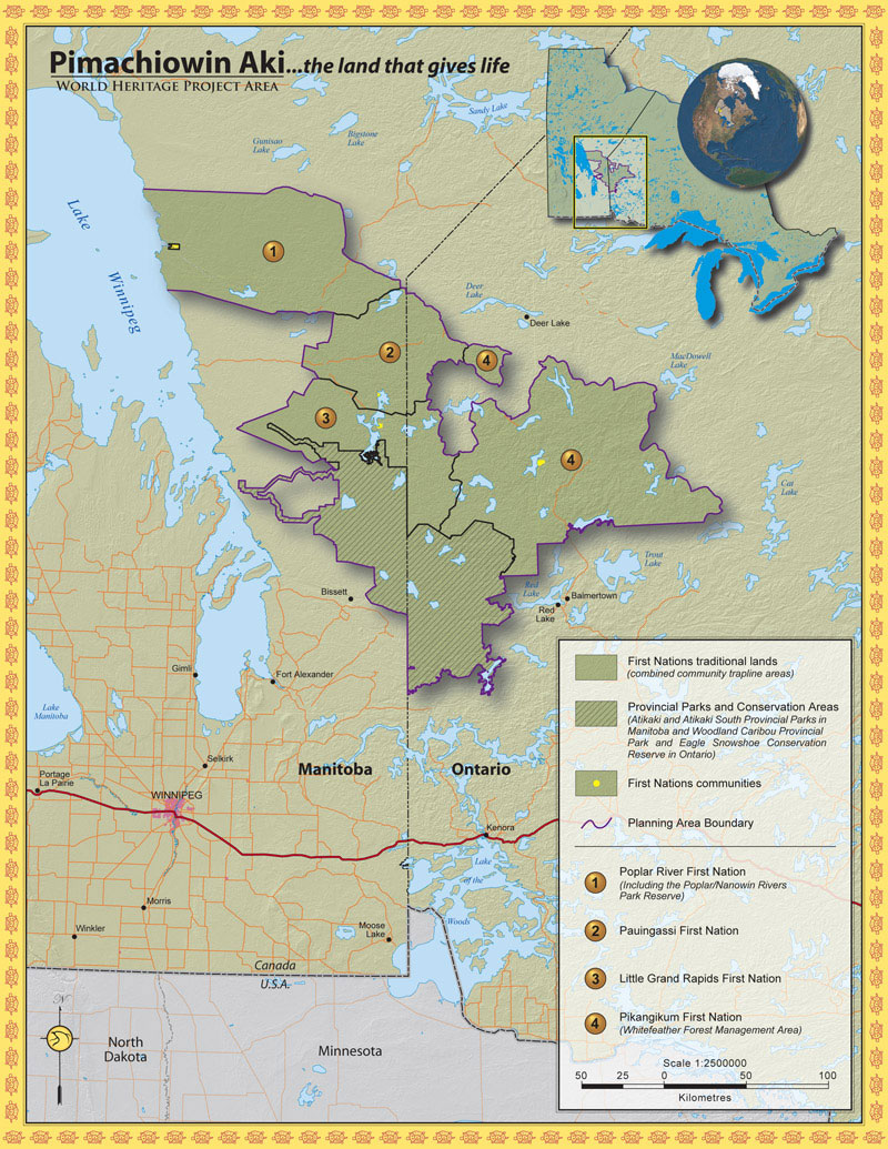 Land use planning world heritage site view pimachiowin aki world heritage project area map gumiabroncs Images