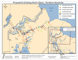 Proposed & Existing Hydro Dams - Northern Manitoba