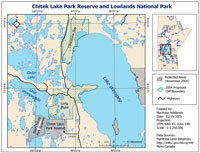 Chitek Lake Park Reserve and Lowlands National Park