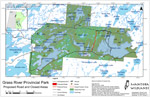 Grass River Provincial Park: Proposed Road and Closed Areas