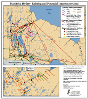 Map of MB Hydro lines and proposals