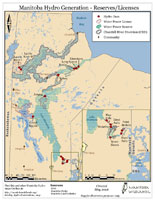 Current MB hydro transmission lines map