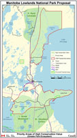 Manitoba Lowlands National Park Proposal Map 2002