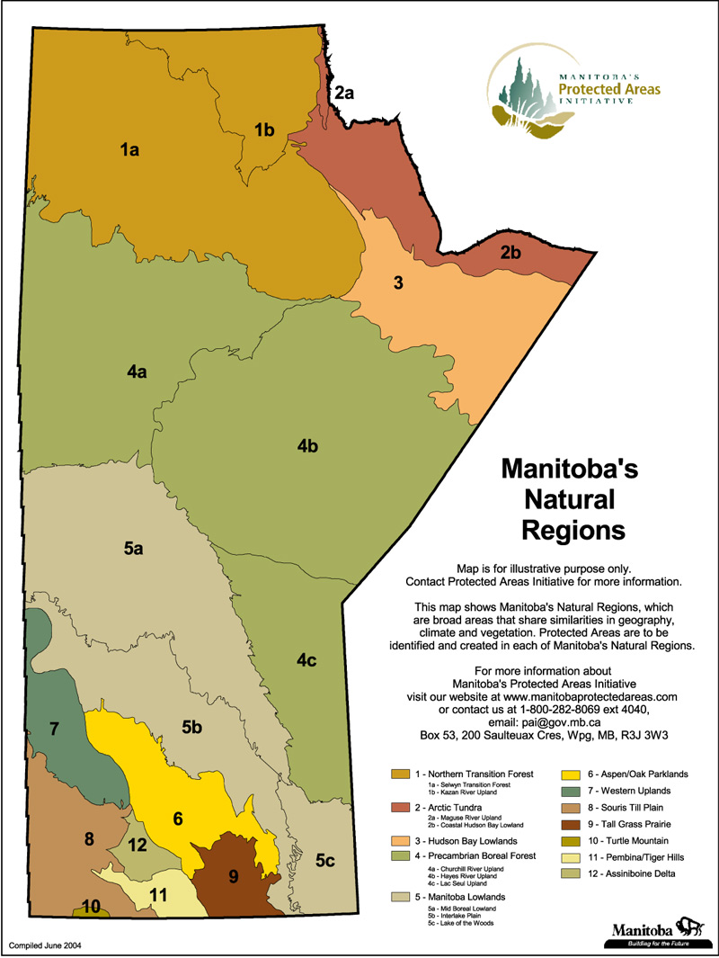 Hudson Bay On Us Map.Protected Areas Map Gallery Manitoba