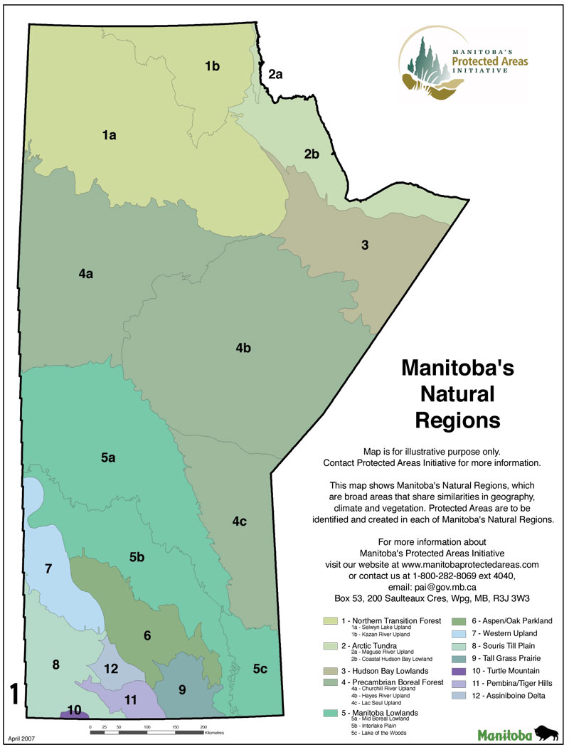 Protected Areas Map Gallery Manitoba - Manitoba map
