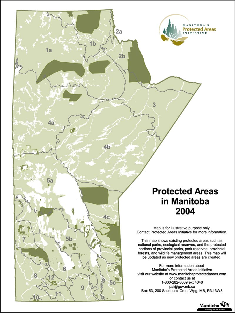 Protected Areas Map Gallery - Manitoba