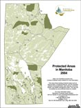 Protected Areas Manitoba Map - 2004