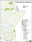 Protected Areas Manitoba Map - 2008