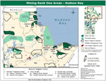 Mining Rank One Areas - Hudson Bay 2005 Map
