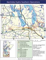Southern MB operations map