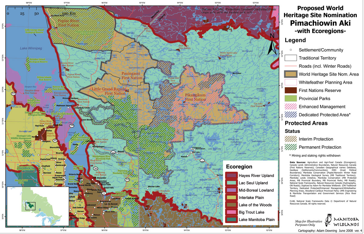 Land use planning world heritage site view june 2008 manitoba widlands map proposed world heritage site nomination pimachiowin aki with ecoregions gumiabroncs Images