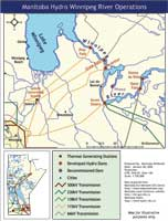 Winniepg River operations map