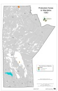 1990 Manitoba Protected Areas Map